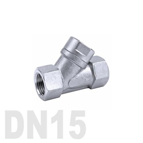 Фильтр угловой муфтовый нержавеющий AISI 316 DN15 (21.3 мм)