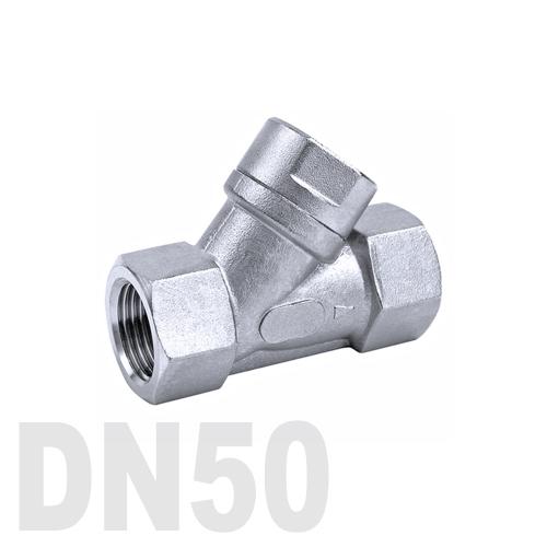 Фильтр угловой муфтовый нержавеющий AISI 316 DN50 (60.3 мм)