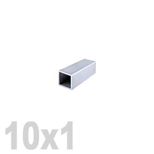 Труба квадратная нержавеющая матовая DIN 2395 AISI 304 (10x10x1x6000мм)