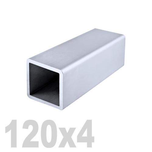 Труба квадратная нержавеющая матовая DIN 2395 AISI 304 (120x120x4x6000мм)