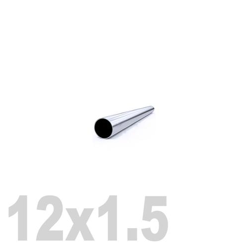 Труба круглая нержавеющая матовая AISI 304 (12 x 6000 x 1.5 мм)