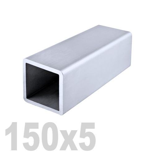 Труба квадратная нержавеющая матовая DIN 2395 AISI 304 (150 x 150 x 6000 x 5 мм)