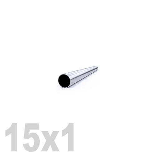 Труба круглая нержавеющая матовая AISI 304 (15x1x6000мм)