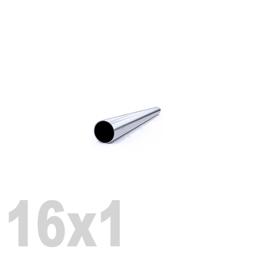 Труба круглая нержавеющая матовая AISI 316 (16 x 6000 x 1 мм)