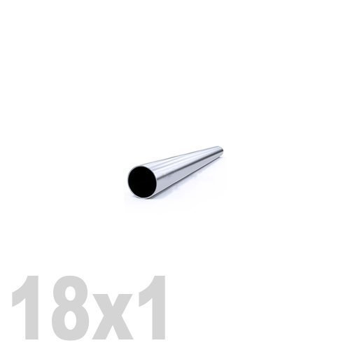 Труба круглая нержавеющая матовая AISI 304 (18 x 6000 x 1 мм)