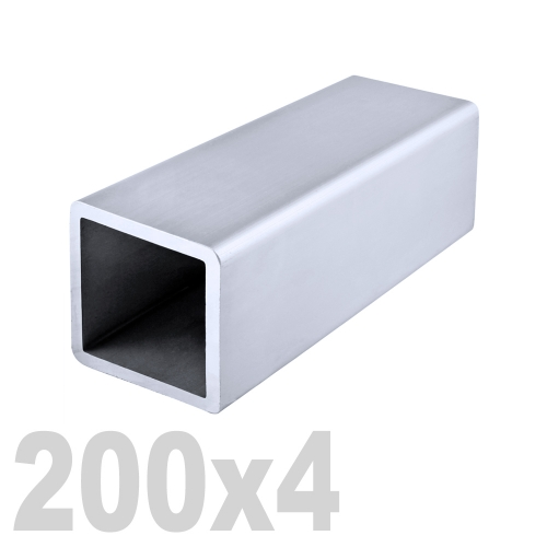Труба квадратная нержавеющая матовая DIN 2395 AISI 304 (200x200x4x6000мм)