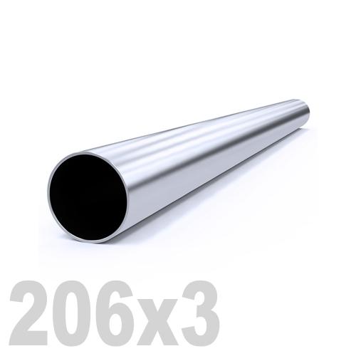 Труба круглая нержавеющая матовая AISI 304 (206x3x6000мм)