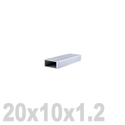 Труба прямоугольная нержавеющая матовая DIN 2395 AISI 304 (20 x 10 x 6000 x 1.2 мм)