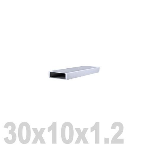 Труба прямоугольная нержавеющая матовая DIN 2395 AISI 304 (30x10x1.2x6000мм)