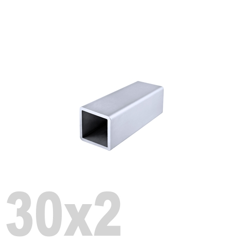 Труба квадратная нержавеющая матовая  AISI 316 (30 x 30 x 6000 x 2 мм)