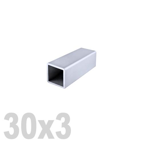 Труба квадратная нержавеющая матовая DIN 2395 AISI 304 (30 x 30 x 6000 x 3 мм)