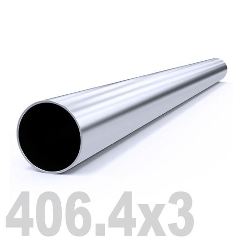 Труба круглая нержавеющая матовая AISI 316 (406.4 x 6000 x 3 мм)