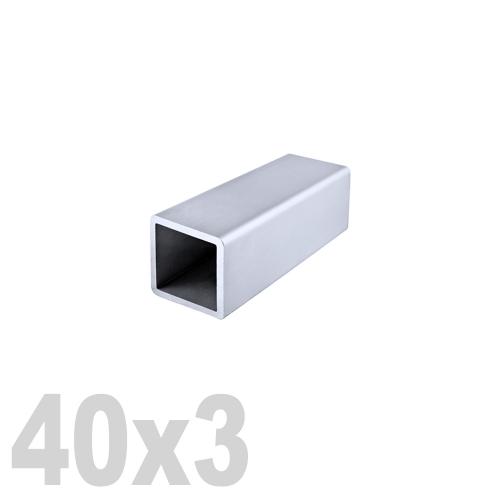 Труба квадратная нержавеющая матовая DIN 2395 AISI 304 (40 x 40 x 6000 x 3 мм)