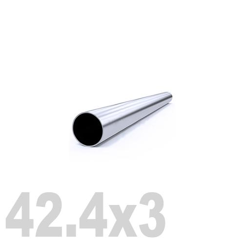 Труба круглая нержавеющая матовая AISI 304 (42.4x3x6000мм)