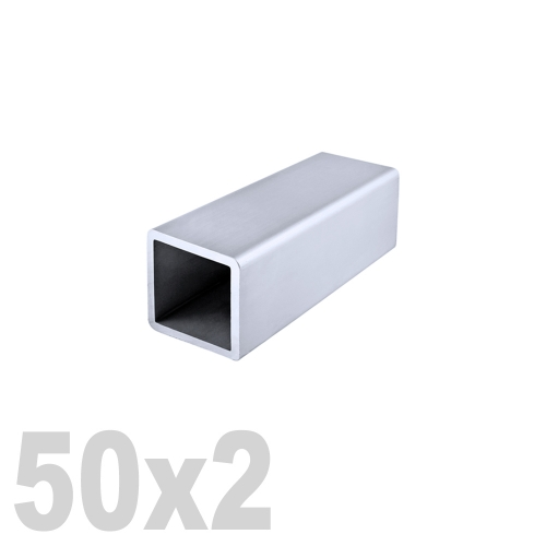 Труба квадратная нержавеющая шлифованная DIN 2395 AISI 304 (50x50x2x6000мм)