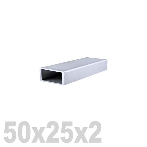 Труба прямоугольная нержавеющая матовая DIN 2395 AISI 304 (50x25x2x6000мм)
