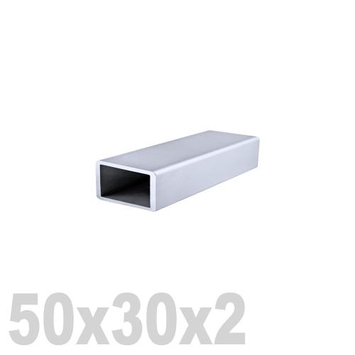 Труба прямоугольная нержавеющая матовая DIN 2395 AISI 304 (50 x 30 x 6000 x 2 мм)