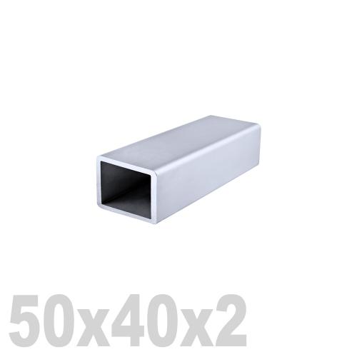 Труба прямоугольная нержавеющая матовая DIN 2395 AISI 304 (50x40x2x6000мм)