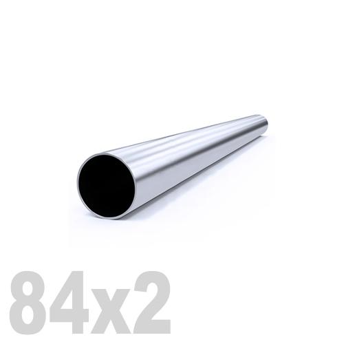 Труба круглая нержавеющая матовая DIN 11850 AISI 316 (84 x 6000 x 2 мм)