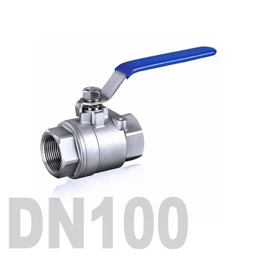 Кран шаровой муфтовый нержавеющий AISI 304 DN100 (114.3 мм)