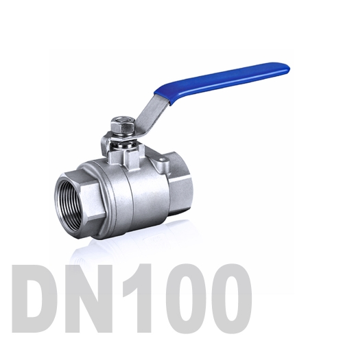 Кран шаровой муфтовый нержавеющий AISI 316 DN100 (114.3 мм)