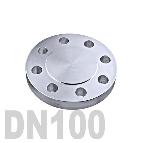 Фланцевая нержавеющая заглушка AISI 316 DN100 (104 мм)