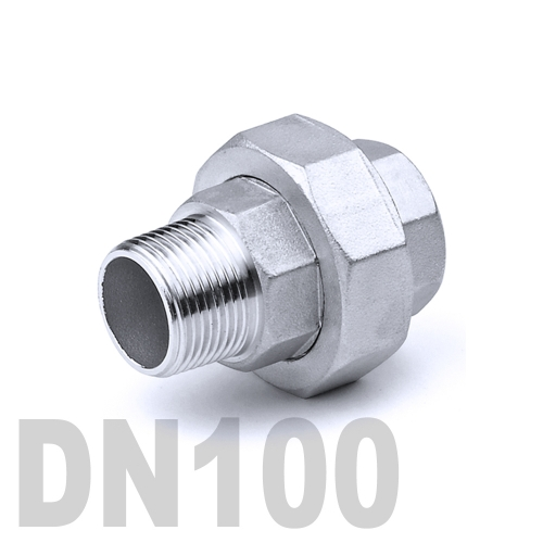 Муфта американка нержавеющая [нр / вр] AISI 304 DN100 (114.3 мм)