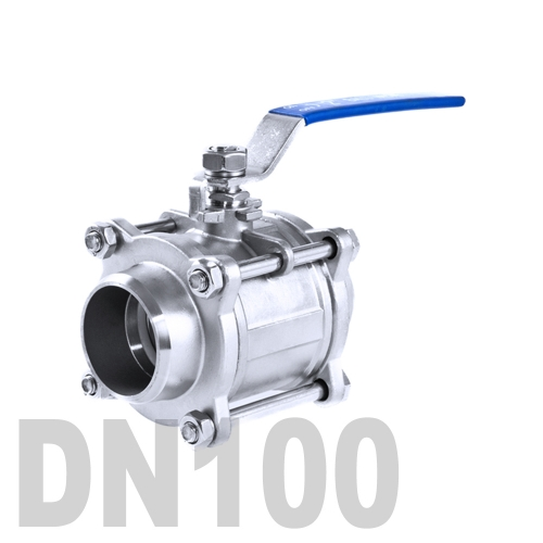 Кран шаровой сварной нержавеющий AISI 304 DN100 (114.3 мм)