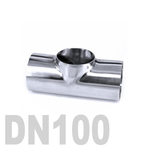 Тройник нержавеющий приварной AISI 316 DN100 (104 x 2 мм)