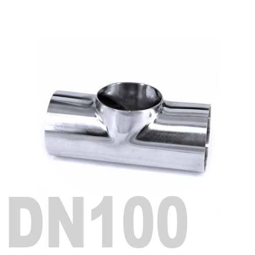 Тройник нержавеющий приварной AISI 304 DN100 (108 x 2 мм)