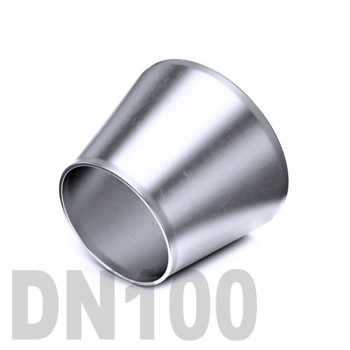 Переход концентрический нержавеющий приварной AISI 304 DN100x80 (114,3 x 88,9 x 3,0 мм)