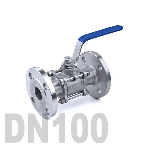 Кран шаровый фланцевый нержавеющий AISI 304 DN100 (114.3 мм)