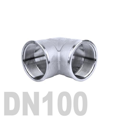 Отвод нержавеющий  90° [вр / вр] AISI 304 DN100 (114.3 мм)