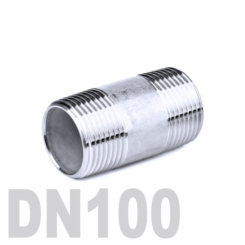 Бочонок нержавеющий [нр / нр] AISI 316 DN100 (114.3 мм)