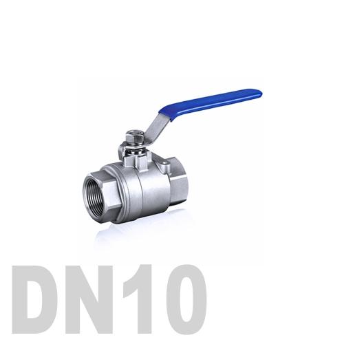 Кран шаровой муфтовый нержавеющий AISI 316 DN10 (17.1 мм)