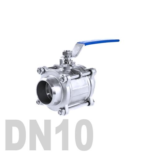 Кран шаровой сварной нержавеющий AISI 304 DN10 (17.1 мм)