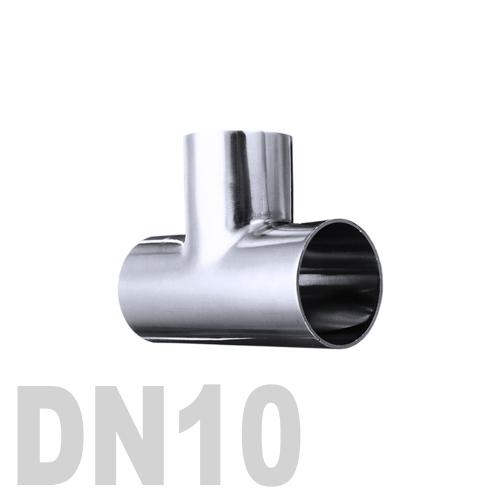 Тройник нержавеющий приварной AISI 304 DN10 (13 x 1.5 мм)