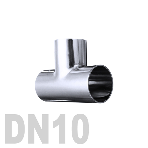 Тройник нержавеющий приварной AISI 316 DN10 (12 x 1.5 мм)