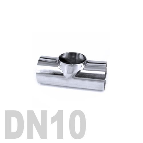 Тройник нержавеющий приварной AISI 316 DN10 (17.1 x 2 мм)