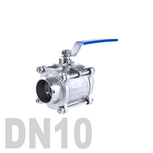 Кран шаровой сварной нержавеющий AISI 316 DN10 (17.1 мм)