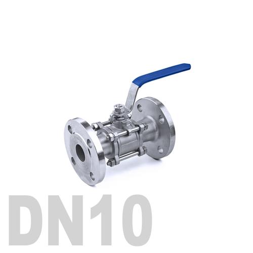 Кран шаровый фланцевый нержавеющий AISI 304 DN10 (17.1 мм)