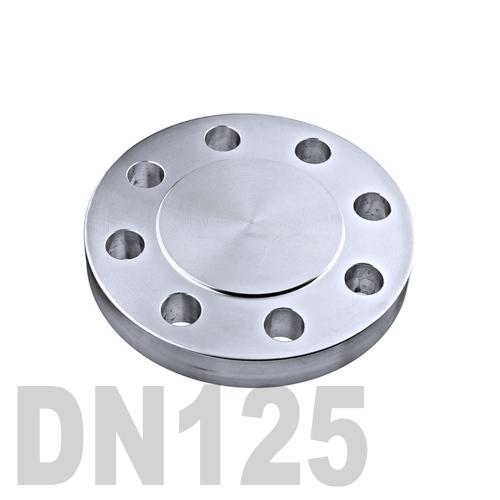 Фланцевая нержавеющая заглушка AISI 316 DN125 (129 мм)