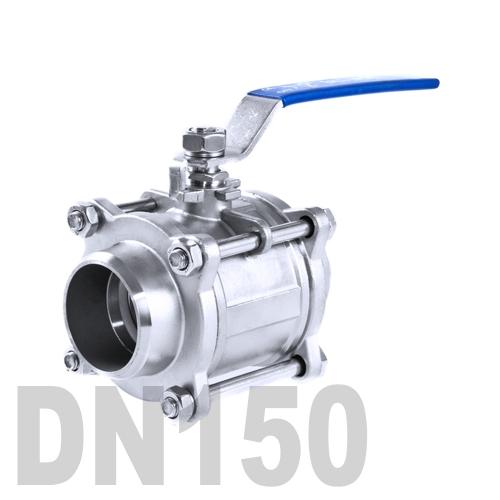 Кран шаровой сварной нержавеющий AISI 304 DN150 (168.3 мм)