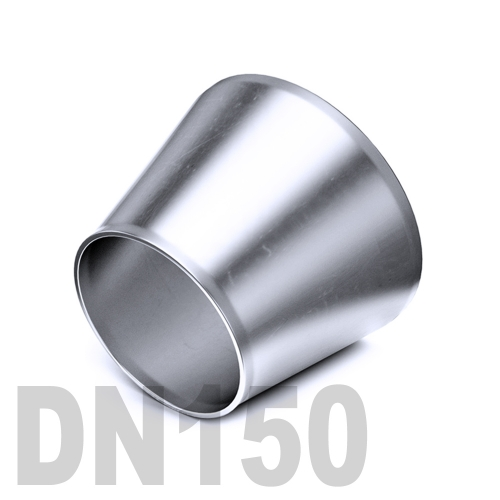 Переход концентрический нержавеющий приварной AISI 304 DN150x80 (154,0 x 85,0 x 2,0 мм)