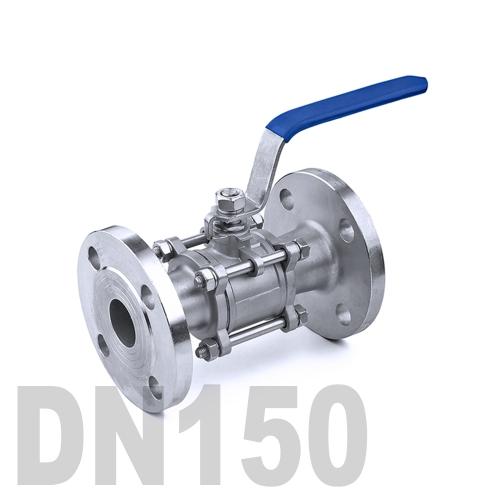 Кран шаровый фланцевый нержавеющий AISI 304 DN150 (168.3 мм)