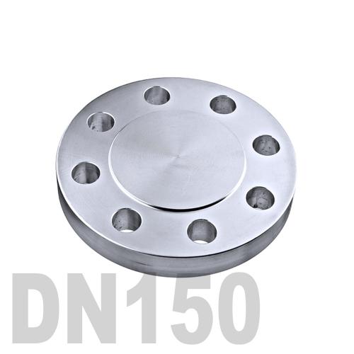 Фланцевая нержавеющая заглушка AISI 316 DN150 (154 мм)