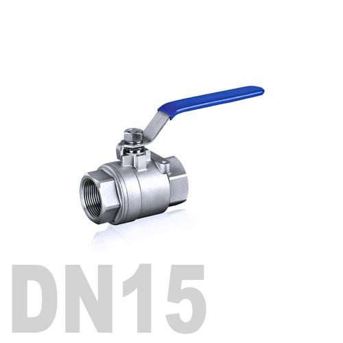 Кран шаровой муфтовый нержавеющий AISI 316 DN15 (21.3 мм)