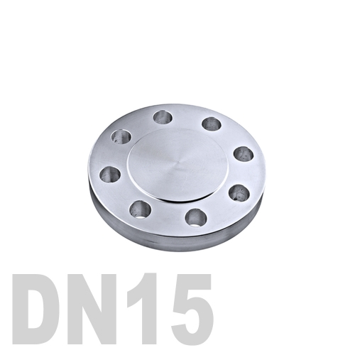 Фланцевая нержавеющая заглушка AISI 304 DN15 (18 мм)