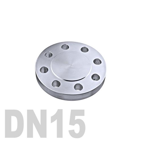 Фланцевая нержавеющая заглушка AISI 304 DN15 (21.3 мм)