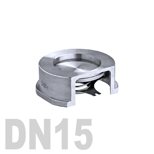 Клапан обратный межфланцевый нержавеющий AISI 316 DN15 (21.3 мм)